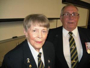 Geneva Hicks and Terry Murphy, Deputy District Commander